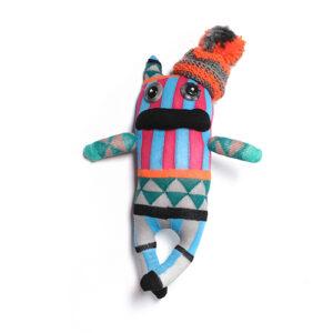 Sockstar-Monster Plüschtier aus Socken Unikat aus St.Gallen