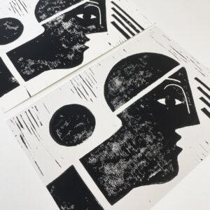 Linolprint von Illustratorin und Künstlerin Clarissa Schwarz in A5