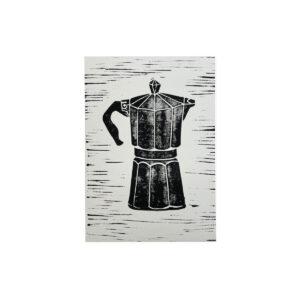 Bialetti Linolprint von Clarissa Schwarz in A5